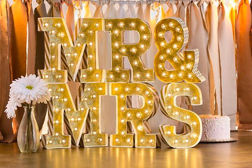 Mr. & Mrs. Marquee (6 inch)