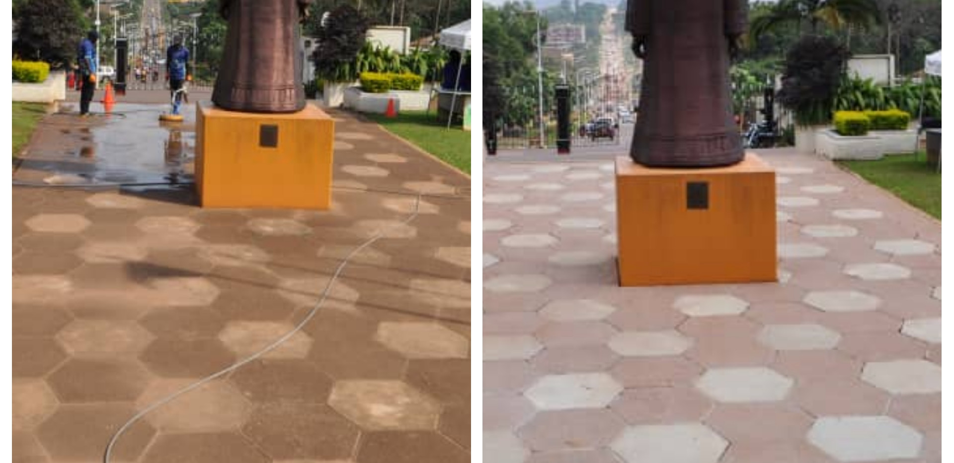Paver cleaning - commercial