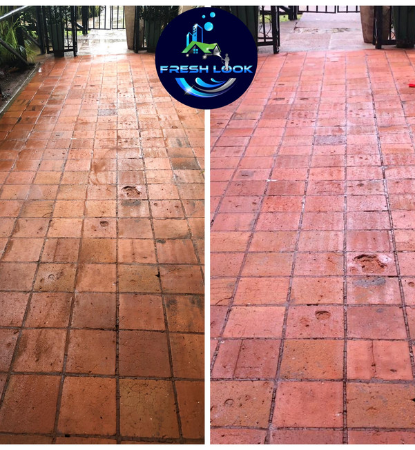 Terracota tile cleaning - commercial