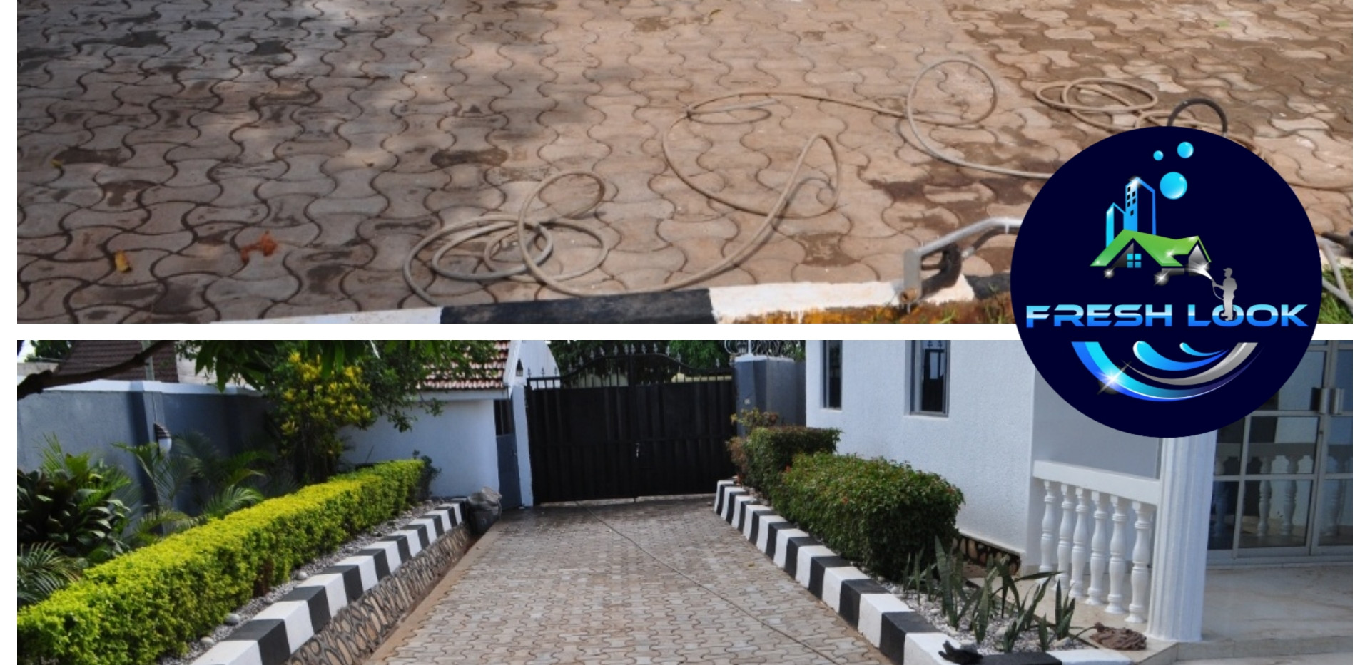 Paver cleaning - residential