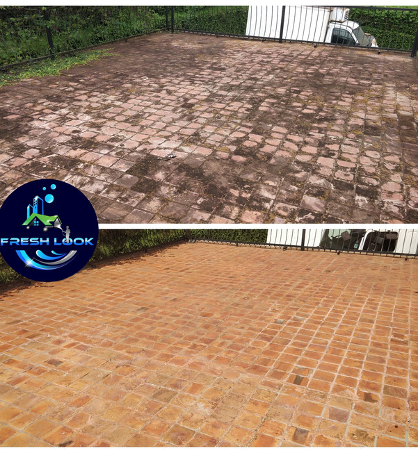 Terracota tile cleaning - residential