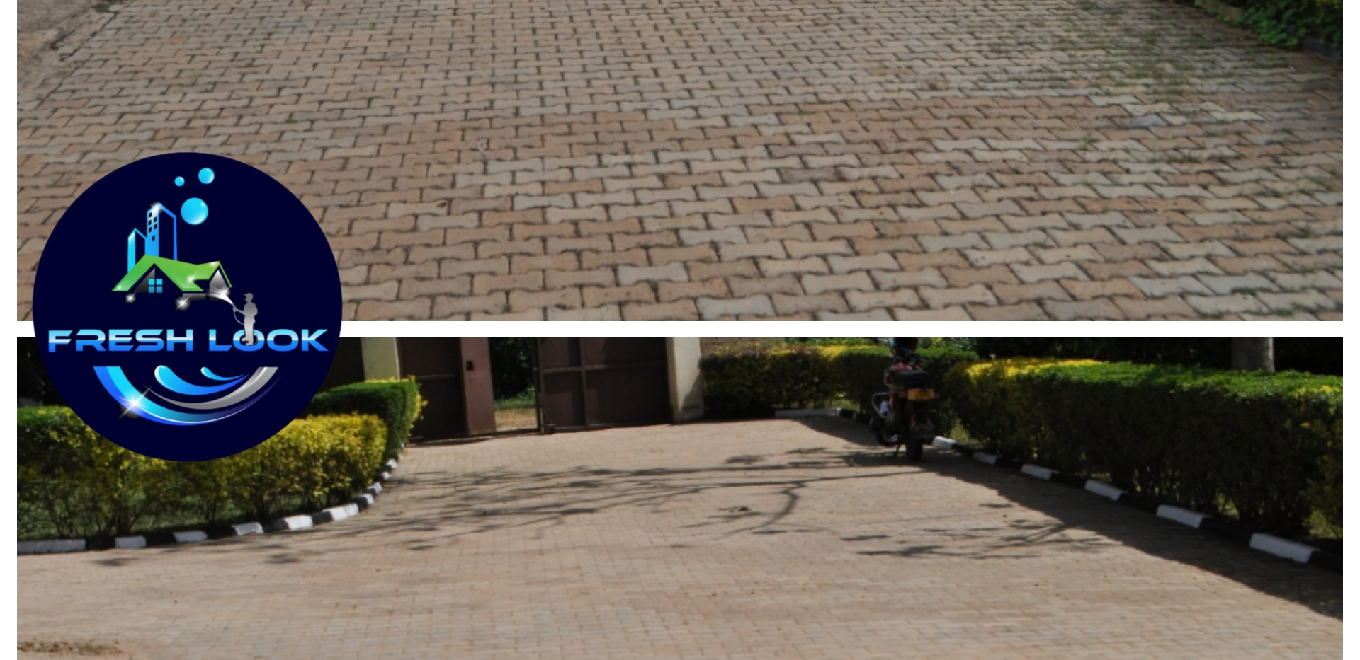 Paver cleaning & sanding - residential