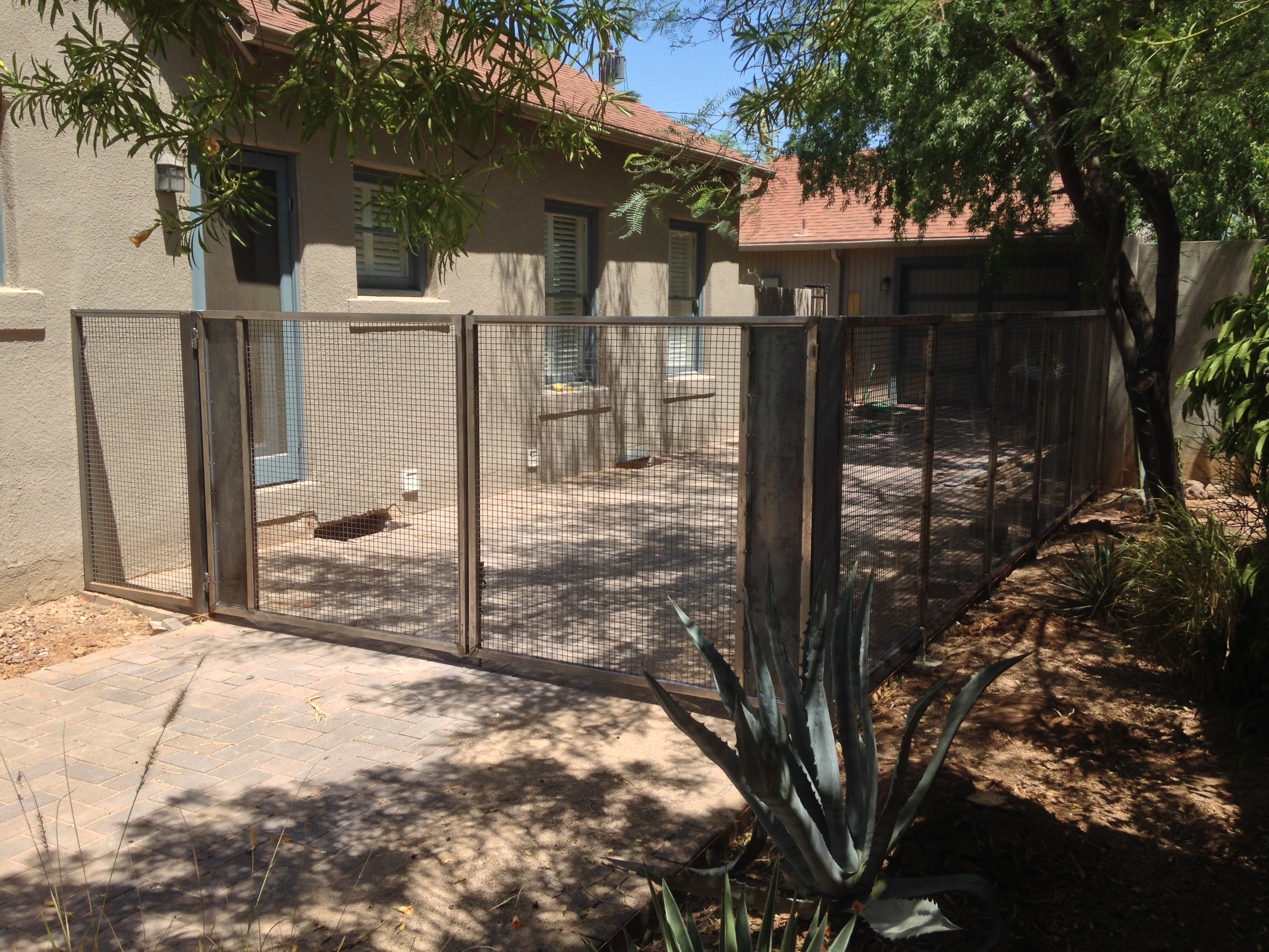 mesh fence and gates