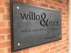 willo & root sign