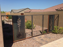 agave & ocotillo double gate