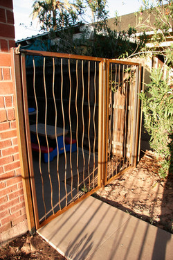 Rebar gate
