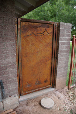 outdoor shower gate