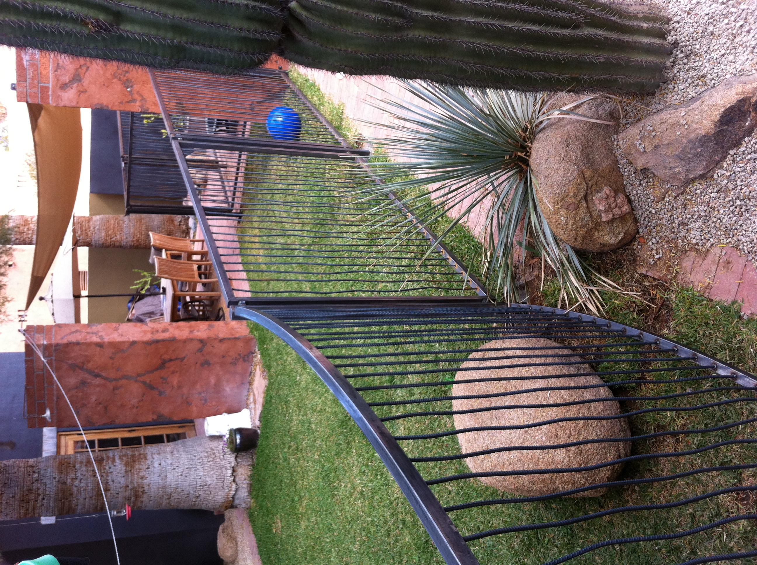 rebar pool fence