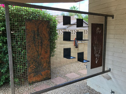 barrier with panels and vignettes