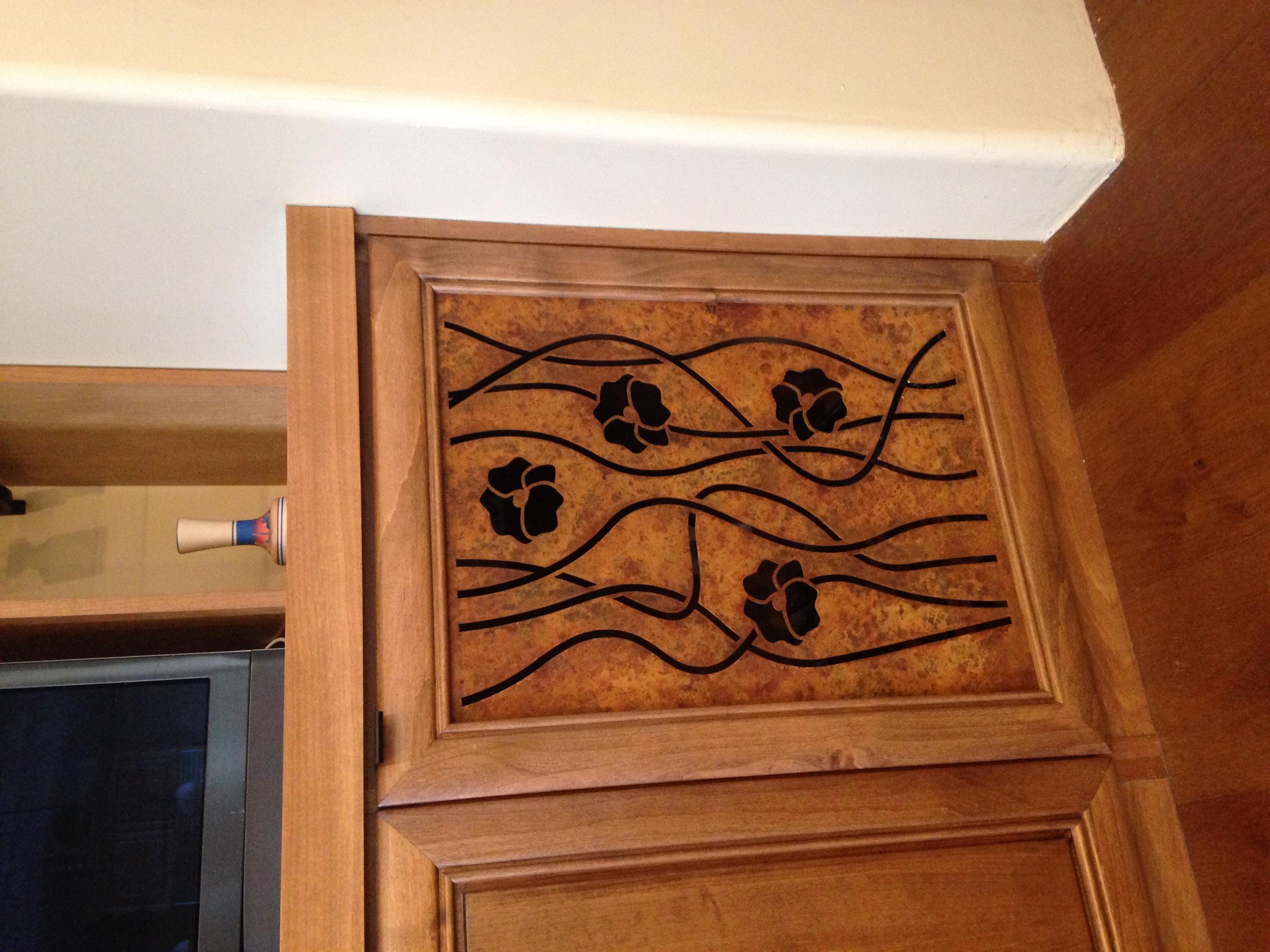 cabinet door insert