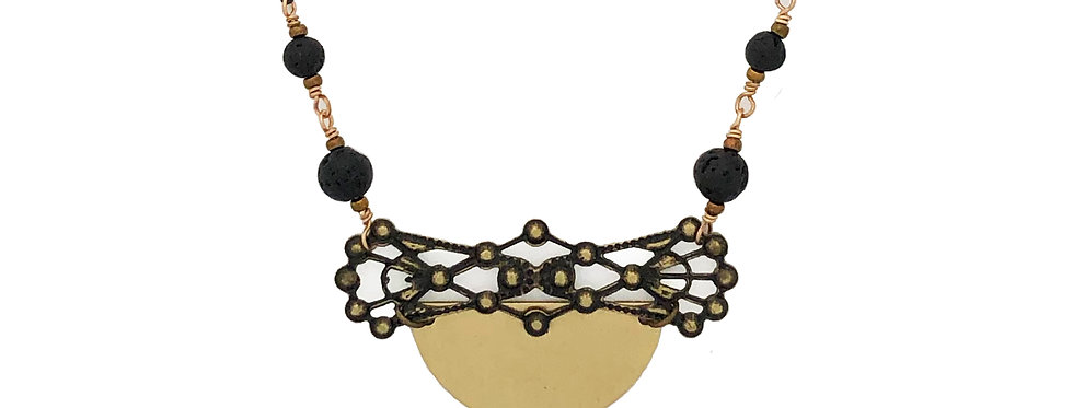 Lace Chalice, essential oil necklace