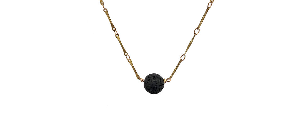 The Minimalist,  solitaire essential oil bead necklace