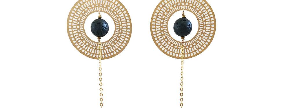 Radiant Mandala, essential oil drop earrings