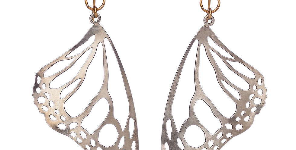Monarch earrings in sterling silver