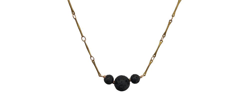 The Minimalist,  three bead essential oil necklace