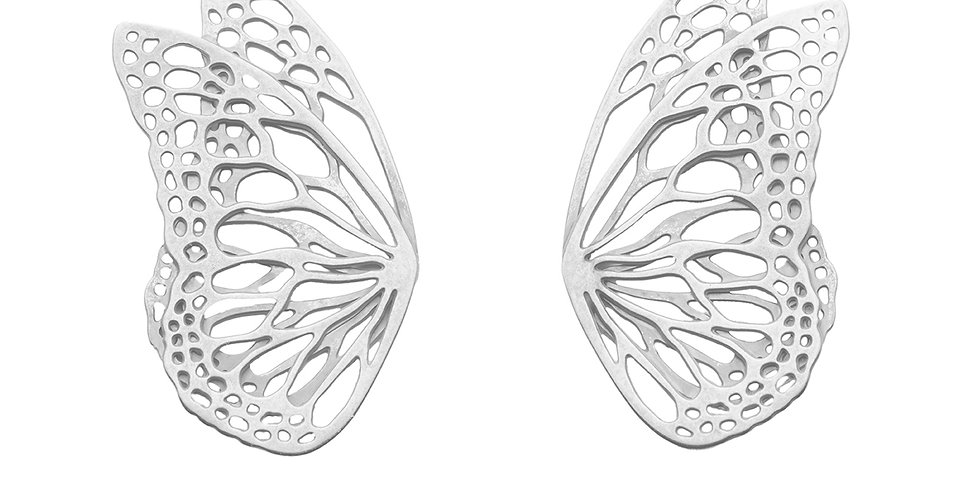 Flight earring climbers in sterling silver