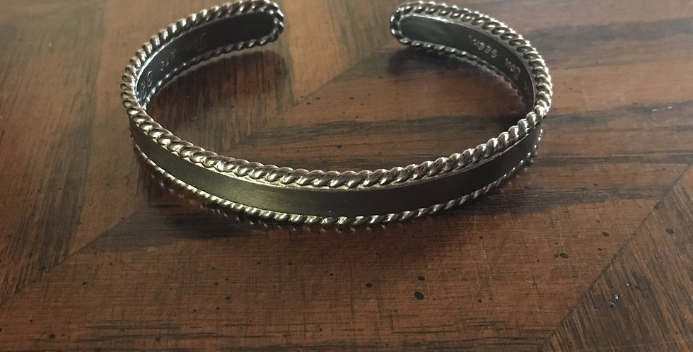 Braver Than You Believe Cuff Bracelet, Aged Bronze