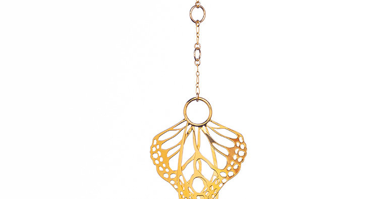 Metamorphosis Lariat in gold plate
