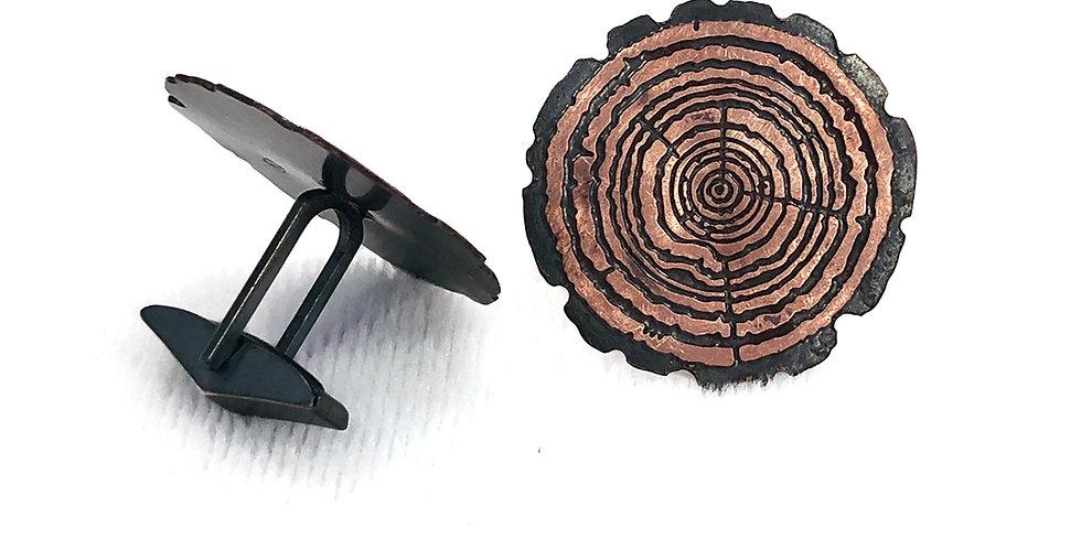 Redwood Slice cufflinks