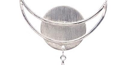 Silver Moon necklace with quartz briolette