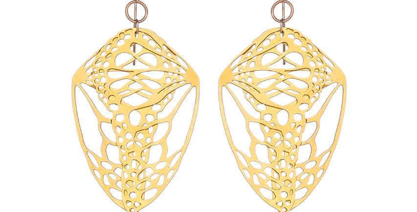 Folded Wings in 23k Gold Plate