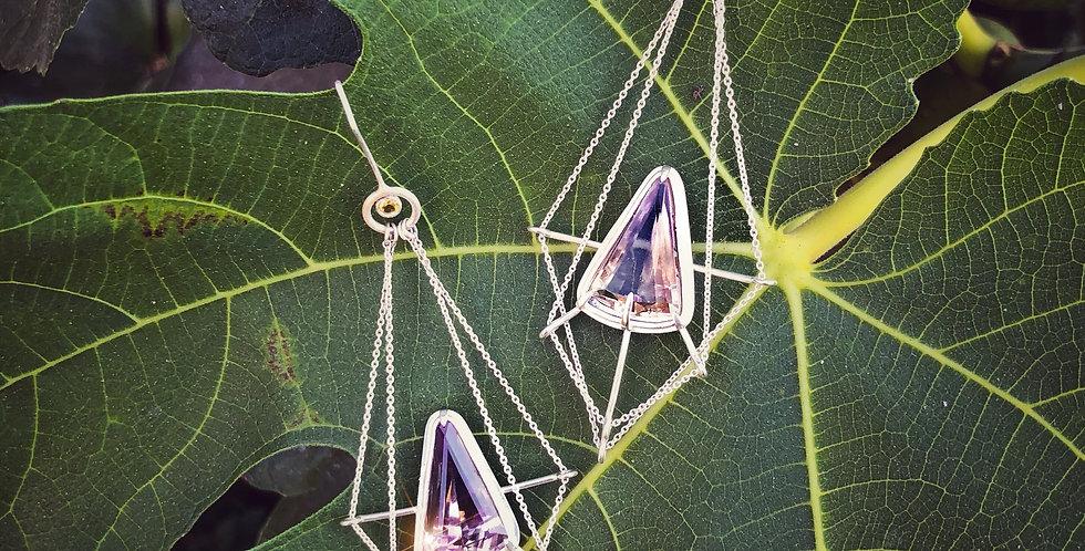 Ametrine duster earrings