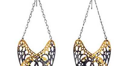 Slumber earrings in 24k gold gilded sterling silver