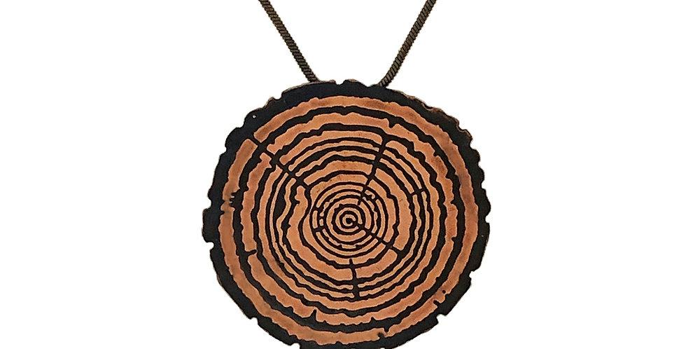 Redwood Slice Medallion, Large