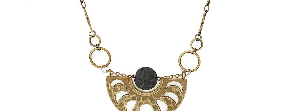 Moon Phase, essential oil necklace