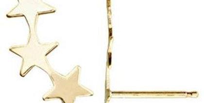 Star earring climber in 14k gold fill