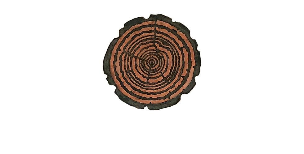 Redwood Slice pin