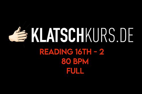 Reading 16th 2 80bpm Full Version