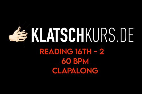 Reading 16th 2 60bpm Clapalong