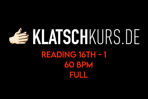 Reading 16th 1 60bpm Full Version
