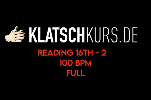 Reading 16th 2 100bpm Full Version
