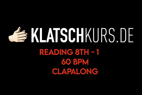 Reading 8th 1, 60bpm, Clapalong