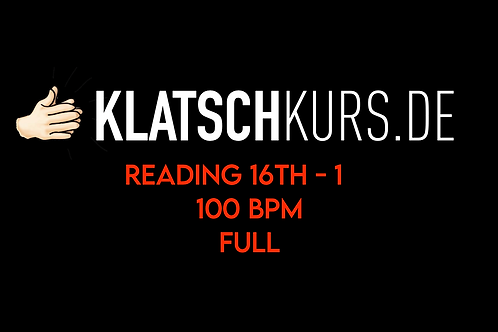 Reading 16th 1 100bpm Full Version