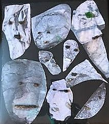 Stoned Faces by artist Debbie Silberberg