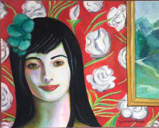 Woman w/White Roses