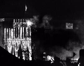Twin Towers Afire