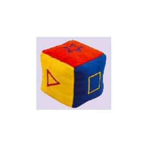 Embroidered Geometric Figures Cube(Small)