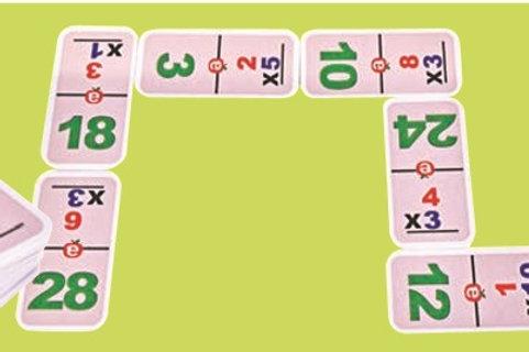 Multiplication Dominoes Game: Domino Multiplicación de Unidades