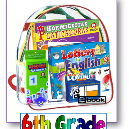 6th grade, Parent Take-home backpack, Span/Eng, Standards-based Family