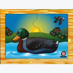 Mama Duck and Baby Puzzle: Rompecabezas Pato