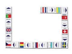European Flags Dominoes Game: Dominó Banderas de Europa
