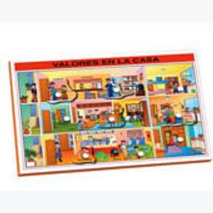Magnetic Puzzle Values at Home; Resaque Magnético Valores en Casa