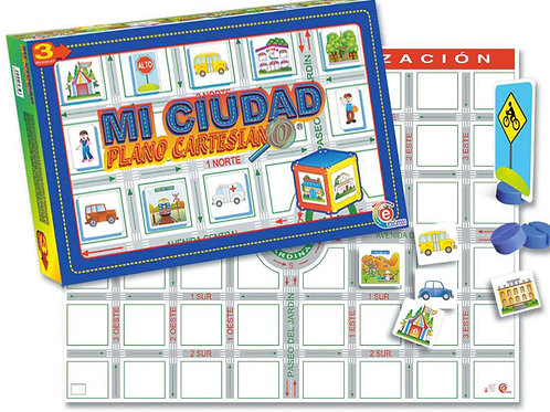 My City Cartesian Map: Mi Ciudad Plano Cartesiano