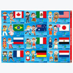 Poster Flags and Costumes: Poster Banderas y Tra..