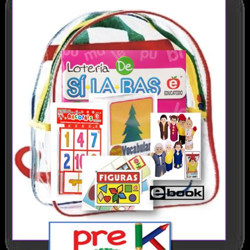 PreK Parent Take-home Backpack, Span/Eng, Standards-based Family