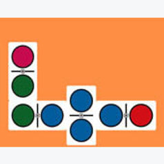 Giant Colors Dominoes Game: Dominó Gigante Colores